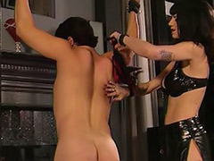 Wanna, Screaming, Scream, Make him, Latex spank, Black femdom