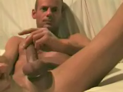 Wank with cum, Solo anal play