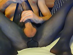 Pantyhose solo, Pantyhose masturbation solo, Solo pantyhose, Opaque, Gay pantyhose