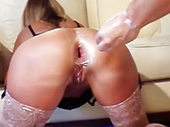 Wife,anal, Wife double, Wife anal, Slutty wife, Sex slutty, Milf fist