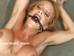 Redhead slut, Redhead boobs, Redhead big boobs, Roped, Rope