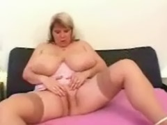 Real blonde, Real blond, Stocking fat, Fat big tits masturbate