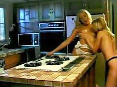 Lipstick blowjob, Lipstick, Lesbian kitchen, Lesbian in kitchen, Lesbian whore, In kitchen