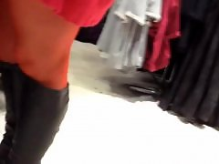 Red t, Stockings boots, Flashing, Flash h, Flash flashing, Flash