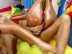 Milf oil, Milf group, Oiling, Oiled sex, Oiled group, Oiled