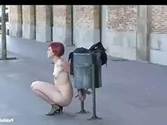 Walking, Public naked, Naked-in-public, Naked walk in public, Naked public, Naked in public