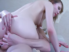 Teen rimming, Russian stocking, Anal stocking teen, Russian