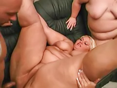 Titfuck cum, Threesome bbw, Shaved chubby, Fat threesome, Fat sex, Fat girls