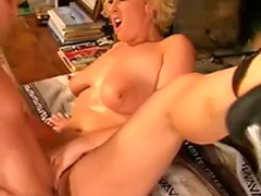Buxom, Both holes, Curly blonde, Curly