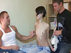Teen handsome, Russian teens threesome, Russian threesome, Very teen