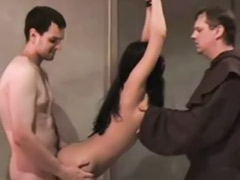 Threesome bondage, Witch, Public bondage, Police, Hunts