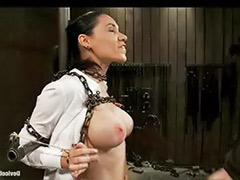 Tit whipping, Whip tits, Latin bondage, Big tit whipping, Chain busty, Chains