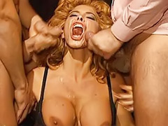 Redhead office, Redhead milf big tits, Milly d abbraccio, Office threesome, Group lingerie, Milly
