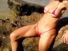 Modelling, Modeling, Beache, Beach, Amazing girl, Outdoor solo