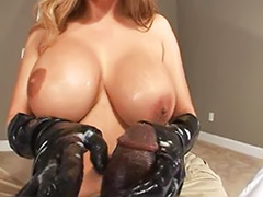 Big titted handjob