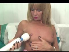 Slim, Magic wand, British milf, Cathy, Cathie, Milf british