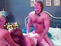 Vintage stockings, Vintage hairy stockings, Vintage threesome, Vagina playing, Threesome vintage, Role play