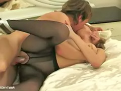 Pantyhose fucking, Pantyhose fuck, Licking pantyhose, Cumming on pantyhose, Cum on pantyhose