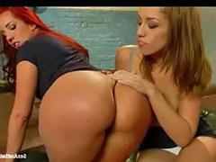 Lesbian stripping, Lesbian ass licking