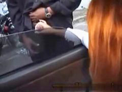 Public,, Public in car, Public handjob, Public, In a car, In car