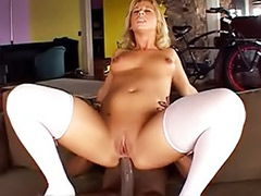 Peaches, Swallows cock, Stockings interracial anal blonde, Like dick, Interracial stockings, Interracial stocking