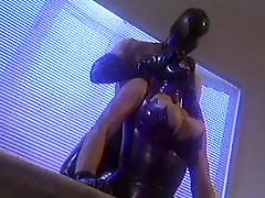 Milf bdsm, Mask, Masked milf, Leather fuck, Leather, Fucked guy