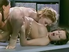Three lesbians kissing, Fun kiss, Blonde, lesbian, three