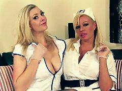 Two lesbians, Two lesbian, Two big, Nursed, Nurse lesbian, Nurse