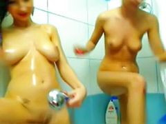 Shower lesbians, Shower lesbian, Shower in bathroom, Shower girl, Lesbians in bathroom, Lesbian shower