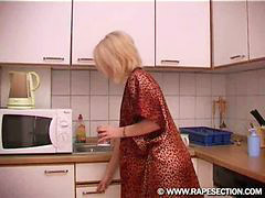 In kitchen, Kitchen, Getting, Blonde kitchen, Blonde blonde blonde, Blond blond blond