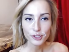 Tits on webcam, Tits face, Tattooed babe, Webcam tattoo, Webcam facial, Cum on small tits