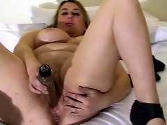 Mature, Big tits, Masturbation