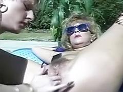 Vintage pool, Vintage lesbians, Vintage lesbian, Vintag lesbians, Vintag lesbian, Tři lesby