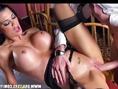 Taught, Waitress, Stockings squirting, Squirt stockings, Jasmin sex, Cum to stocking