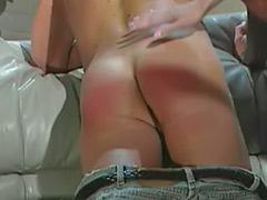 Spanked femdom, Mistress slave, Mistress femdom, Mistress dominates slaves, Mistress couple, Latex spank