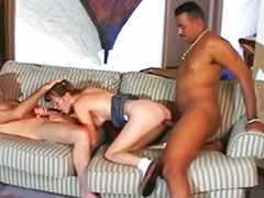 Double anal interracial, Bangin