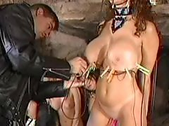 Trio, Slave sex, Slave bdsm, Sexy blond, Sexy boobs, Sexy boob