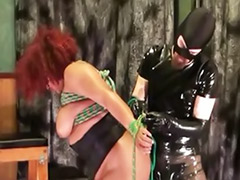 Redhead bbw, Latex fetish ass, Latex ebony, Latex bondage, Fat redhead, Fat bondage