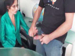 Milf office, Milf handjobs, Office milfe, Office milf, Handjob milf, At office