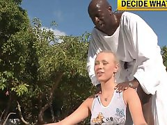 Teena, Saboom, Interracial blonde, Interracial blond, Guru, Blonde interracial