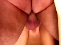 Horny brunette, Fills, Filled