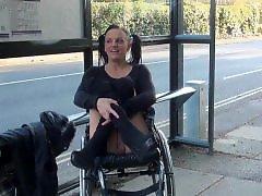 Public flashing, Public flash, Handicap, Flashing public, Handicapped