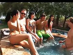 Pussy haire, Party outdoors, Party outdoor, Party black, Pool party, Pool bikini
