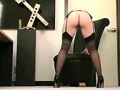 Stockings sex, Stockings dildo, Stocking dildo, Sexe in office, Sex by stocking, Milf office