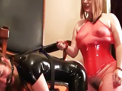 Rope sex, Latex threesome, Latex strap, Latex fuck, Latex femdom, Latex blond