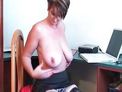 Tits granny, Tits granni, Playing with tits, Stockings dildo, Stocking mature solo, Stocking dildo