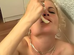 Sperm swap, Kitchen cum, Blonde kitchen