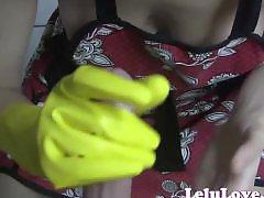 Rubber gloves, Gloves, Apron, Rubber handjobs, Gloved handjob, Glove