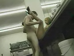Work in kitchen, Public work, In the work, Kitchen public, Kitchen cum, Blonde kitchen