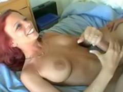 Redhead handjob, Surprise cum, Cum surprise, Mayes, Christmas